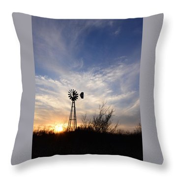 Oklahoma Skies Throw Pillow