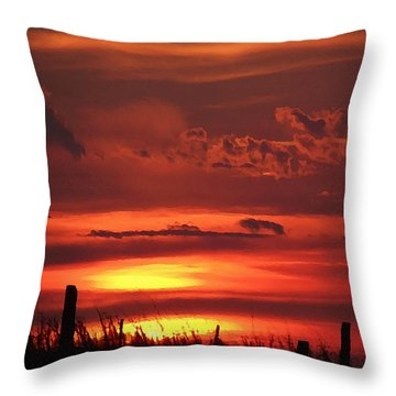 Oklahoma Sky At Daybreak  Throw Pillow