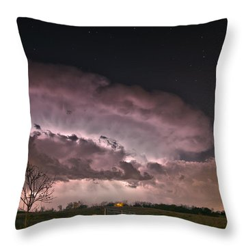 Oklahoma Sky Of Fire Throw Pillow