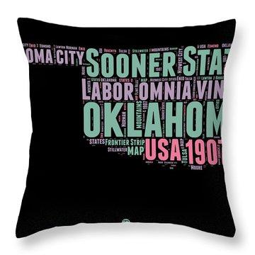 Oklahoma Word Cloud 1 Throw Pillow