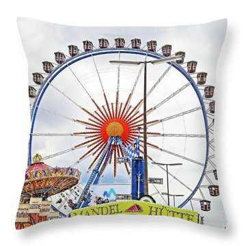 Oktoberfest 2010 Munich Throw Pillow