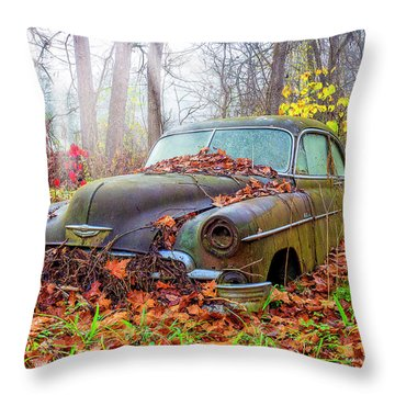 Ol' 49 Chevy Coupe Throw Pillow