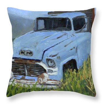 Ol' Blue Throw Pillow