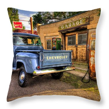 Back Roads Throw Pillows