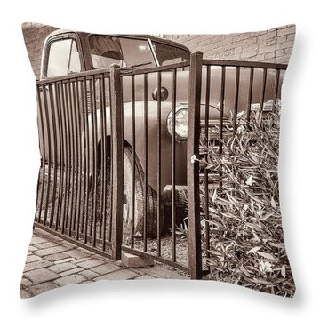 Ol' Chevy Castrated Throw Pillow by Charles Ables