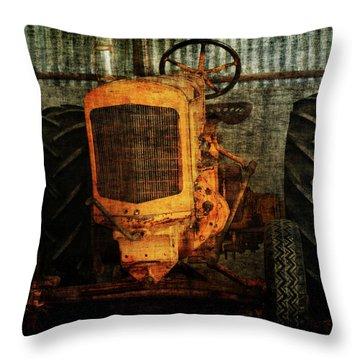 Ol Yeller Throw Pillow by Ernie Echols