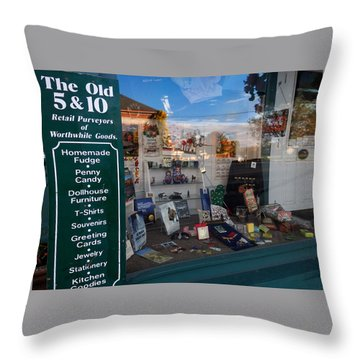 Old 5 And 10 North Conway Throw Pillow