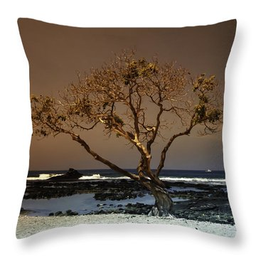 Old A Beach Throw Pillow