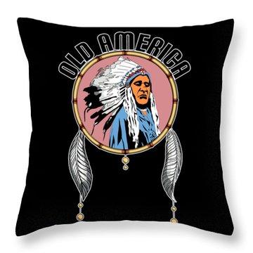 Old Amercia Throw Pillow