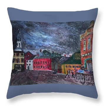 Old Amesbury Early Winter Throw Pillow