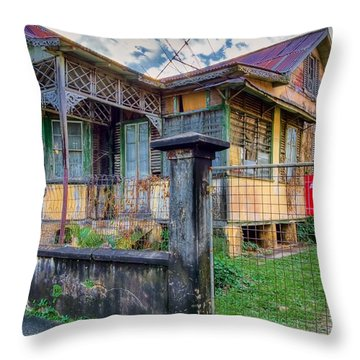 Old And Alive Throw Pillow