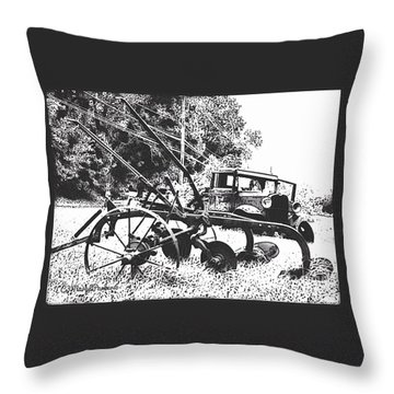 Old And Rusty In Black White Throw Pillow