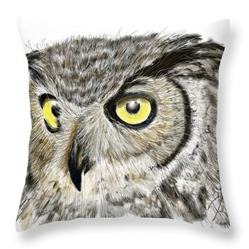 Old And Wise Throw Pillow