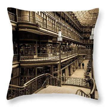 Old Arcade Throw Pillow