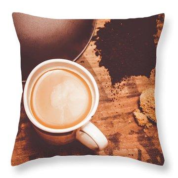 Old Artistic Vintage Tea Still Life Throw Pillow
