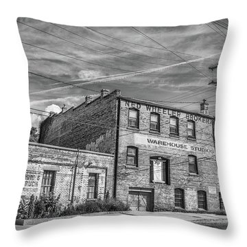 Old Asheville Building Throw Pillow