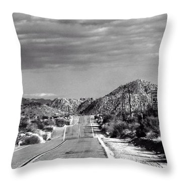 Old Back Road Throw Pillow