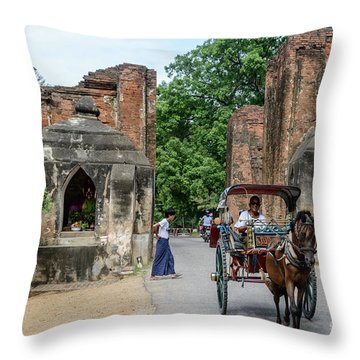 Old Bagan Throw Pillow
