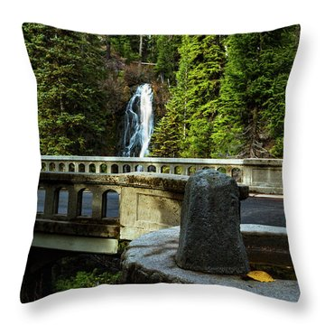 Old Barlow Road Bridge Throw Pillow