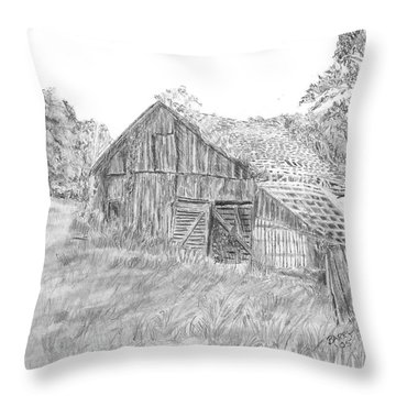 Old Barn 3 Throw Pillow by Barry Jones