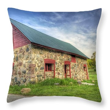 Old Barn At Dusk Throw Pillow
