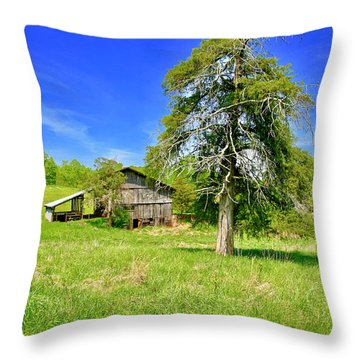 Old Barn, Smith Mountain Lake Throw Pillow