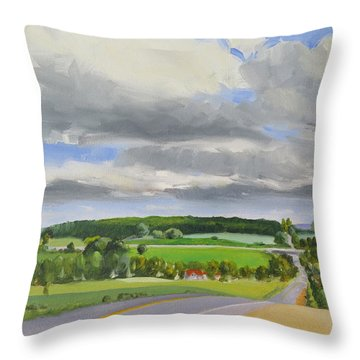 Old Barrie Road Throw Pillow
