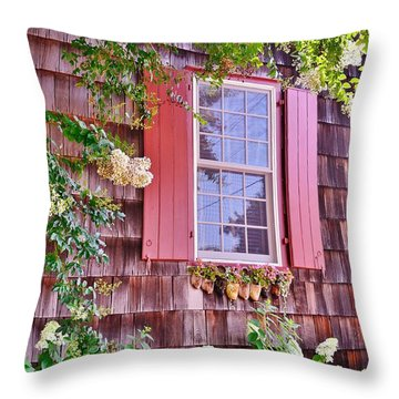 Old Bethel Church Window Throw Pillow