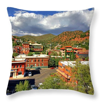 Old Bisbee Arizona Throw Pillow