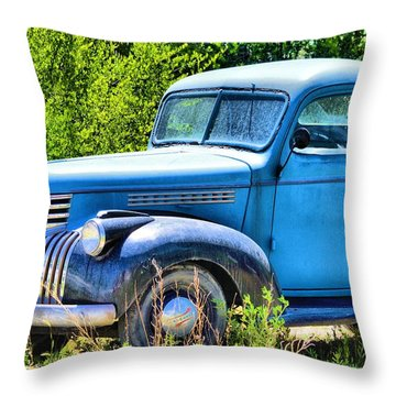 Old Blue At Pasture Throw Pillow