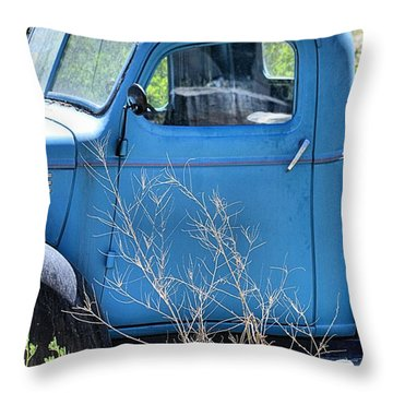 Old Blue In The Weeds Throw Pillow