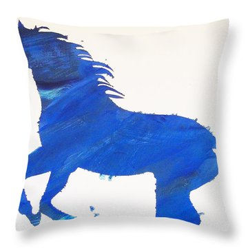 Old Blue Throw Pillow