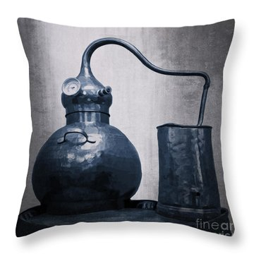 Old Blue Still Throw Pillow by Megan Dirsa-DuBois