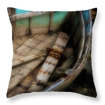 Old Boat 2 Stonington Maine Throw Pillow