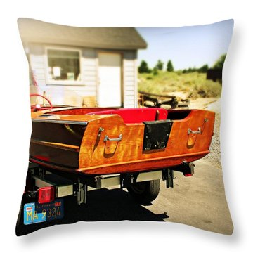 Old Boat By The Shack Throw Pillow