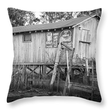 Old Boat House Throw Pillow by Bob Decker