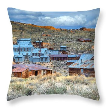 Old Bodie Gold Mining Town Throw Pillow
