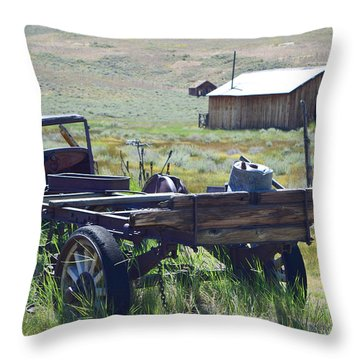 Old Bodie Wagon Throw Pillow