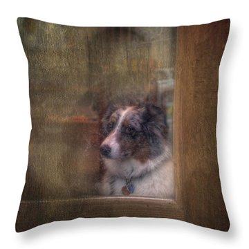 Old Bonnie Dog Throw Pillow