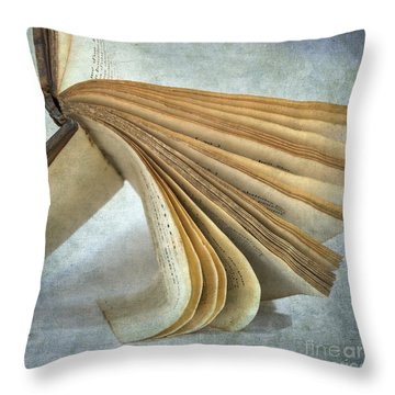 Old Book Throw Pillow by Bernard Jaubert