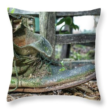 Old Boot Throw Pillow
