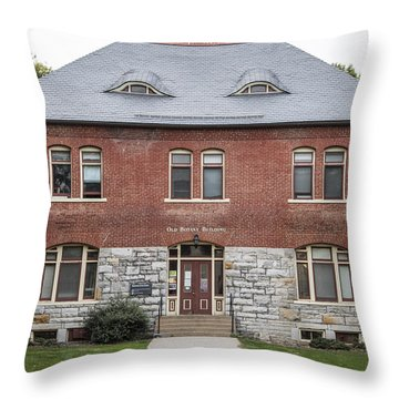 Old Botany Building Penn State  Throw Pillow by John McGraw