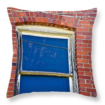 Old Brick Building Throw Pillow