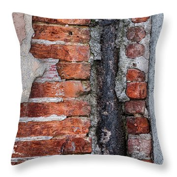 Throw Pillow featuring the photograph Old Brick Wall Fragment by Elena Elisseeva