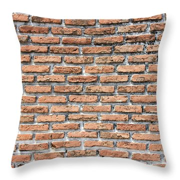 Throw Pillow featuring the photograph Old Brick Wall by Jingjits Photography