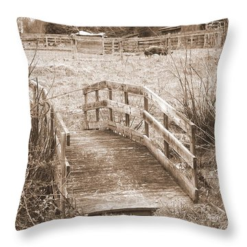 Old Bridge Throw Pillow