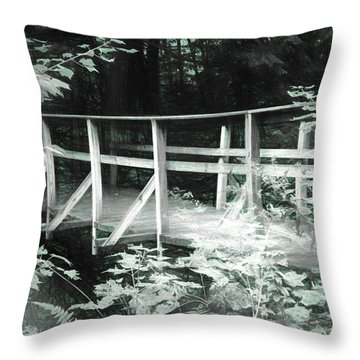 Old Bridge In The Woods Throw Pillow