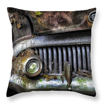 Old Buick Front End Throw Pillow by Walt Foegelle