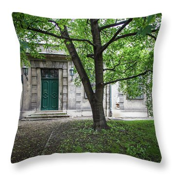 Old Building Exterior Throw Pillow