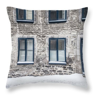Old Building In Quebec City Throw Pillow